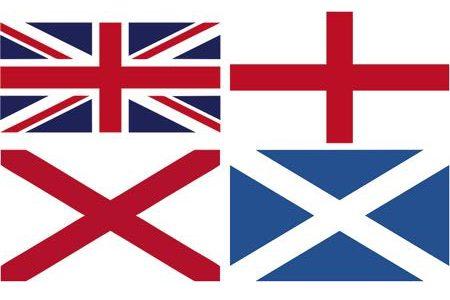 Bendera Inggris, Skotlandia, Wales